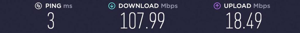 IP Vanish NO VPN Speed Test